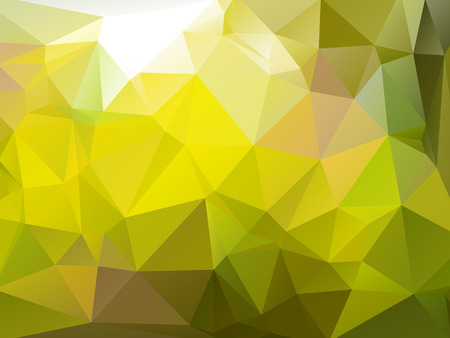 rumpled: Yellow dark green abstract geometric rumpled triangular low poly style vector illustration graphic background Illustration