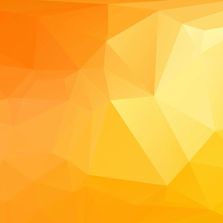 rumpled: Yellow orange and gold color abstract geometric rumpled triangular low poly style vector illustration graphic background