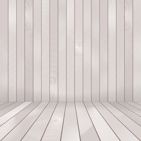 Wood plank gray and white texture background Vector illustration Illustration