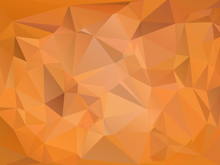 rumpled: Brown abstract geometric rumpled triangular low poly style vector illustration graphic background