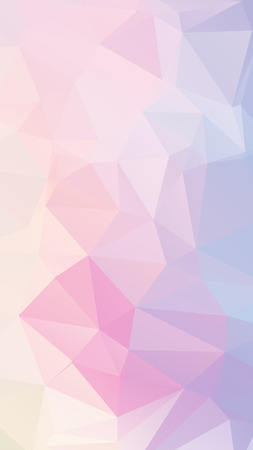 Blue pink light Pastel geometric rumpled triangular low poly style vector Background for Smart phone