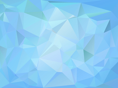 rumpled: Blue marine abstract geometric rumpled triangular low poly style vector illustration graphic background