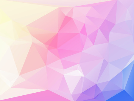 rumpled: Pink Blue Purple and white abstract geometric rumpled triangular low poly style vector illustration graphic background Illustration