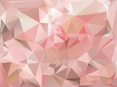 rumpled: Pastel pink blue and white abstract geometric rumpled triangular low poly style vector illustration graphic background Illustration