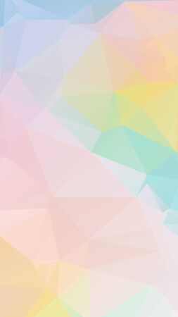 Colorful light Pastel geometric rumpled triangular low poly style vector Background for Smart phone Ilustração