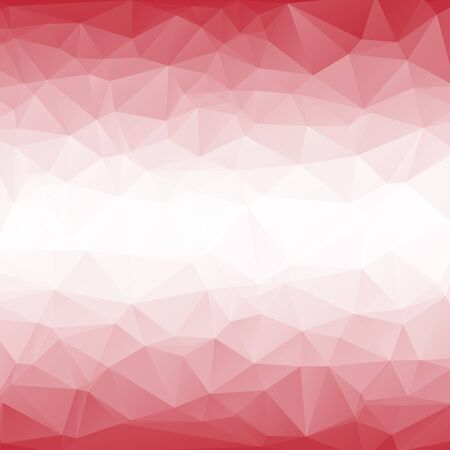 rumpled: Red white abstract geometric rumpled triangular low poly style vector illustration graphic background