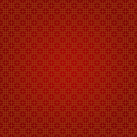 snake calligraphy: abstract chinese background vector design in red and gold square