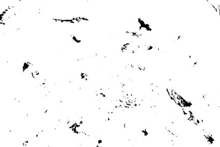 Distress Overlay Small Gravel Texture for your design.  Black and white. Ilustração