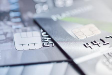 cashpoint: credit cards macro shot