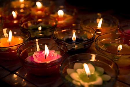 cosiness: candle light flower candle colorful