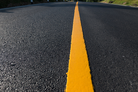 yellow line: Yellow line on the new road