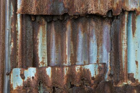 corrugated iron: Rusty corrugated iron metal texture