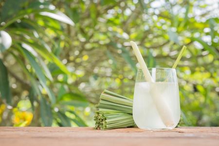 lemongrass tea: Healthy drinks, Lemon grass tea with ice, cold drink Stock Photo