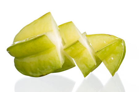 Star apple isolated on white  background Standard-Bild