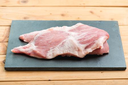 Part of sliced fresh pork neck fresh meat