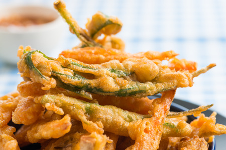 Vegetable fritters with cabbage , mushroom and carrots Фото со стока