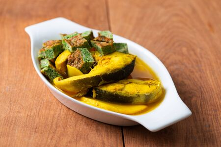 Sour Curry with Fish And Vegetable Omelet