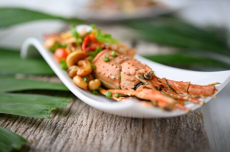 Stir Fried  lobster with cashew nuts and pineapple sweet and sour.