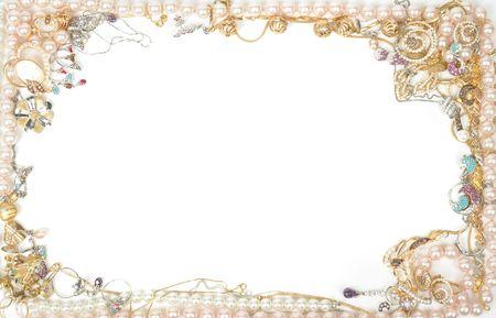 Fashion jewelry framework, isolated on white background Stock Photo - 8079378