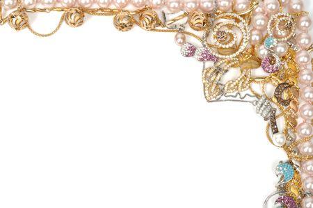 Fashion jewelry framework, isolated on white background photo
