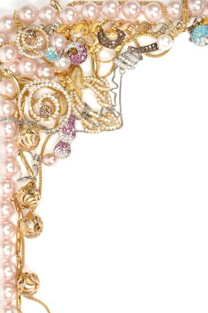Jewelry beautiful frame Stock Photo