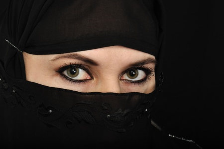 Close up picture of a Muslim woman wearing a veil Stock Photo - 8569750