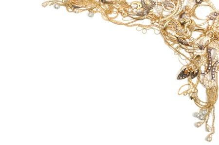Fashion jewelry framework, isolated on white background Stock Photo - 8569743