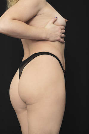 Beautiful woman body isolated on black background Stock Photo - 9086664
