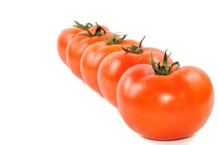 Fresh tomato isolated on a white background photo