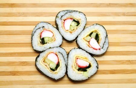 tekka: Traditional Japanese sushi, isolated on white background Stock Photo