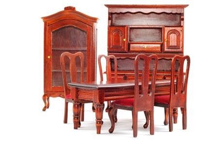 muebles de madera: Muebles de madera fijado para cocina isleted sobre un fondo blanco