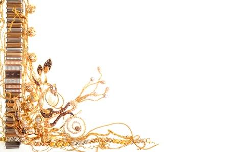 Fashion jewelry framework, isolated on a white background photo