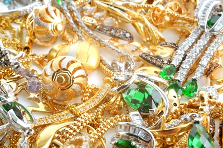Fashion jewelry from yellow and white gold