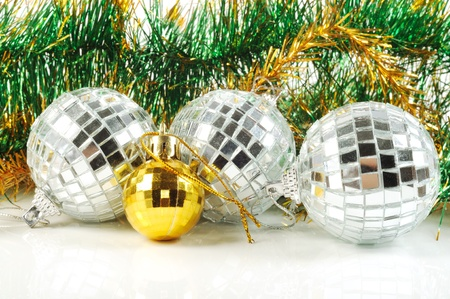Christmas Decorative Balls From Small Mirrors And Decoration Stock Gorgeous Small Decorative Balls
