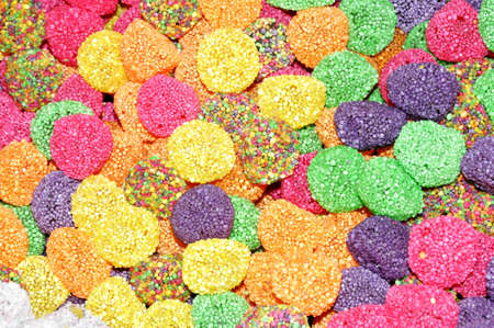 A lot of colorful candies for background photo