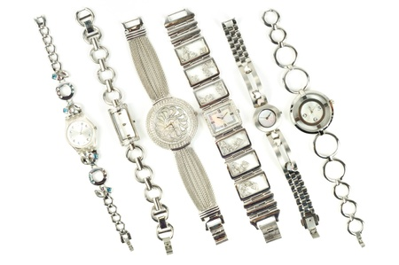Woman fastion watch on a white background photo