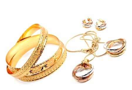 Golden jewelry 版權商用圖片