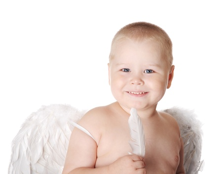 Sweet angel boy photo