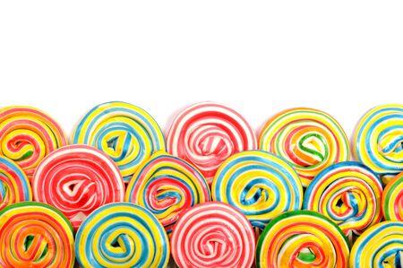 paletas de caramelo: Colorido frontera Foto de archivo