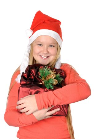 Happy girl with gift Stock Photo - 16732536