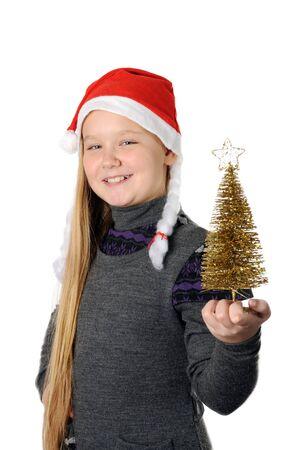 Teen in Santa hat Stock Photo - 16732538
