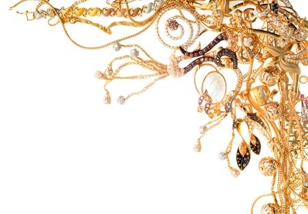 bijoux diamant: Gold cadre