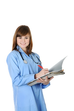 Beautiful young  doctor Stock Photo - 17067669