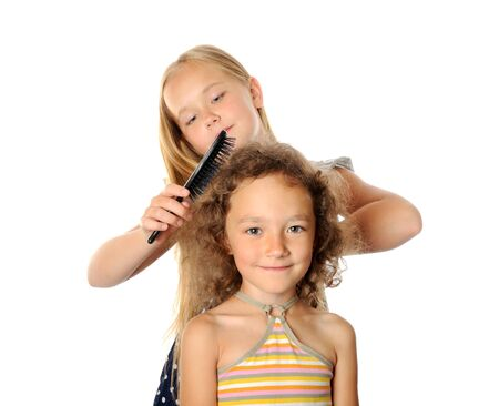 Hair brushing Stock Photo - 17067666