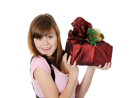 I got a gift  Stock Photo - 17099234