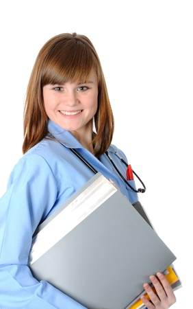 Beautiful young  doctor Stock Photo - 17527437