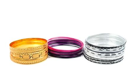 Fashion bracelets on white Reklamní fotografie
