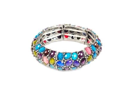 Bracelet with gems Reklamní fotografie