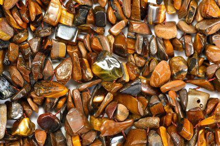 Tigers eye gem stone background, closeup Stock fotó