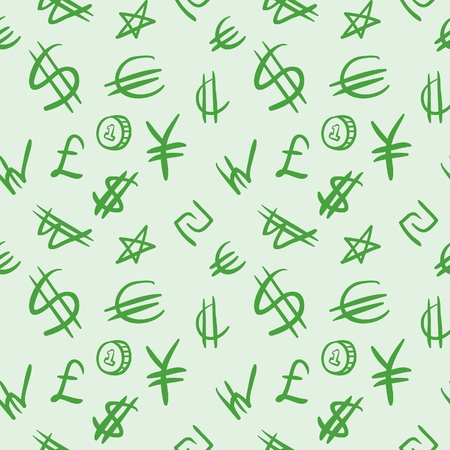 World currency symbols Illustration